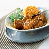 Pork colombo with sweet potato purée( topic : season dishes)