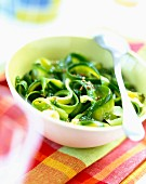 Tagliatelli with aniseed -flavored courgettes