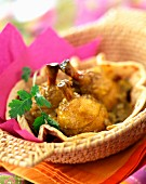 Poultry drumsticks spiced with colombo