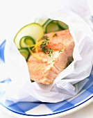 Salmon and courgette Papillotes