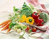 Assorted dwarf vegetables