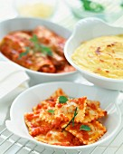Ravioli and cannelloni