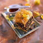 Baklava with almonds, pistachios and hazelnuts