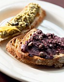 Green and black Tapenade
