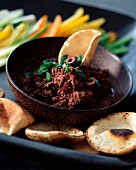 Black olive tapenade with herbs