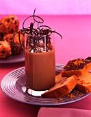 Chocolate cream orange brioche