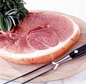 Slice of raw gammon