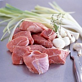 cuts of raw veal