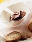 Cocoa and hazelnut sorbet