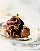 Chocolate Cream with Candied Chestnut Ice Cream