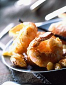 Roast Dublin Bay prawns with vanilla and almonds
