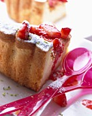 Fromage frais, strawberry and lime tart