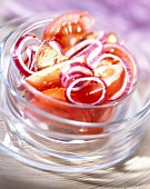 Red onion and tomato salad