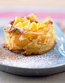 Mango and cinnamon tortilla soufflée