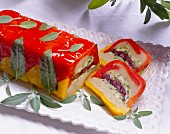 Vegetable terrine with olives