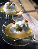 Whisked egg white dessert
