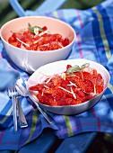 Summer fruit in jelly