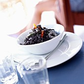Rice with cuttlefish ink