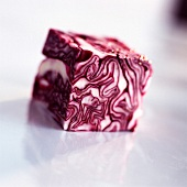 Cube of red cabbage