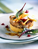 Veal Tournedos with polenta and vegetables
