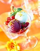 Dish of ice cream