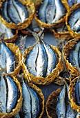 Mini baskets of fresh sardines