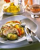 Fresh tuna, courgette and tomato Tian