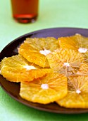 Sliced fresh oranges