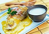 Geflügelbrust mit Curry und Kokosmilch