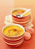 Creme brulée with saffron