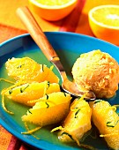 Orange soup with basil