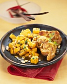 Spicy rabbit with mango