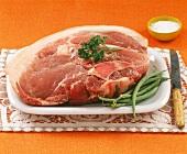 Raw pork sholderblade bone