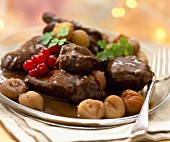 Venison Civet with chestnuts