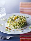 Avocado and courgette tartare