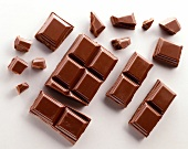 Broken chocolate squares