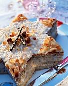 Hazelnut and almond star cake