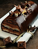 Chocolate and candied chesnut Christmas log