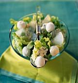 Roquefort salad with pear sorbet