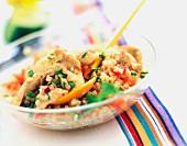 Chicken tabouleh salad