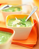 Creamed courgette soup with Parmesan and tarragon