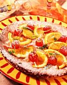 Fondant orange cake
