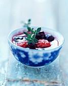 Summer fruit soup with Guignolet cherry liqueur