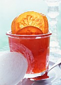 Pink grapefruit jelly with apples
