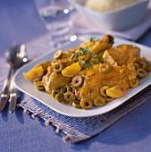 Chicken,olive and confit citrus Tajine