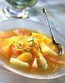 Citrus fruit and honey soup