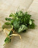 Bunch of mint, coriander and chives