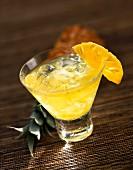 Brandy-pineapple cocktail