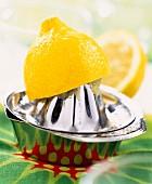 Lemon and squeezer