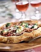 mince and broccoli pizza